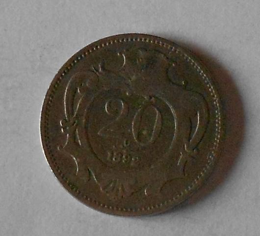 Rakousko 20 Haléř 1892