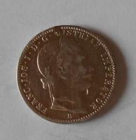 Uhry 1/4 Zlatník/Gulden 1860 B měl ouško