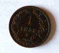 Uhry 1 Krejcar 1858 B stav
