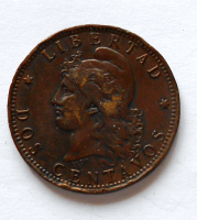 Argentina Dos centavos 1890