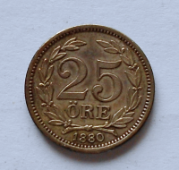 Dánsko 25 Öre 1880