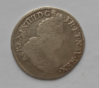 Francie 1/2 Ecu 1702 Dijon-Ludvík XIV.