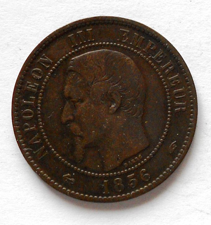 Francie 10 Centimes 1856 Napoleon III.