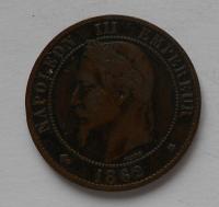 Francie 10 Centimes 1862 Napoleon III.
