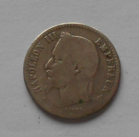 Francie 50 Cent 1865 Napoleon III.