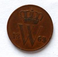 Holandsko 1 Cent 1863