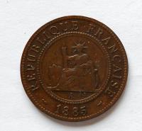 Indočína 1 Cent 1885