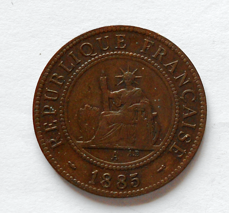 Indočína 1 Cent 1885