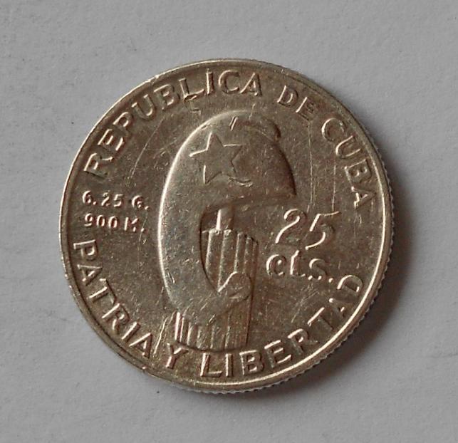 Kuba 25 Cent 1953