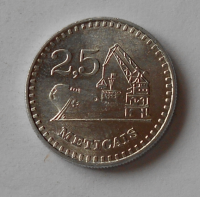 Mozambik 2,5 Metical 1986