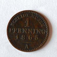 Prusko 1 Pfenik 1865 A
