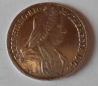 Rakousko 1/2 Tolar 1768 Marie Terezie měl ouško