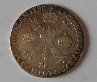 Rakousko 1/4 Tolar 1788 Josef II. H
