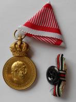 Rakousko Signum laudis+miniatura s meči