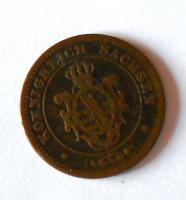 Sasko 2 Pfenik 1862 B