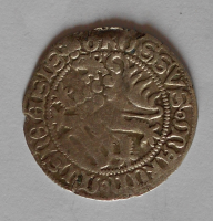 Sasko-Míšeň Groš štítový 1440-64 Fridrich II. + Vilém III.