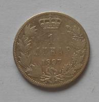 Srbsko 1 Dinár 1897