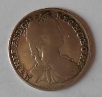Uhry-KB XV. Krejcar 1743 Marie Terezie