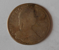 Uhry-KB XV. Krejcar 1744 Marie Terezie měl ouško