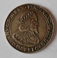 Uhry Tolar 1641 Ferdinand III. 24,74g měl ouško, dobové falzum