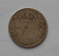Velká Británie 3 Pence 1898 Viktorie