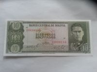 10 Bolivianos, 1962, Bolivie