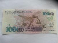 100000 Cruzeiros, ptáci, Brazilie