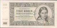 1000Kčs/16.5.1945/, stav UNC perf. S, série 20 E