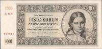 1000Kčs/16.5.1945/, stav UNC perf. S, série 27 E