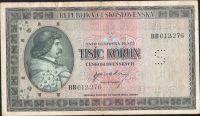 1000Kčs/1945-bl/, stav 3 perf. S, série BB