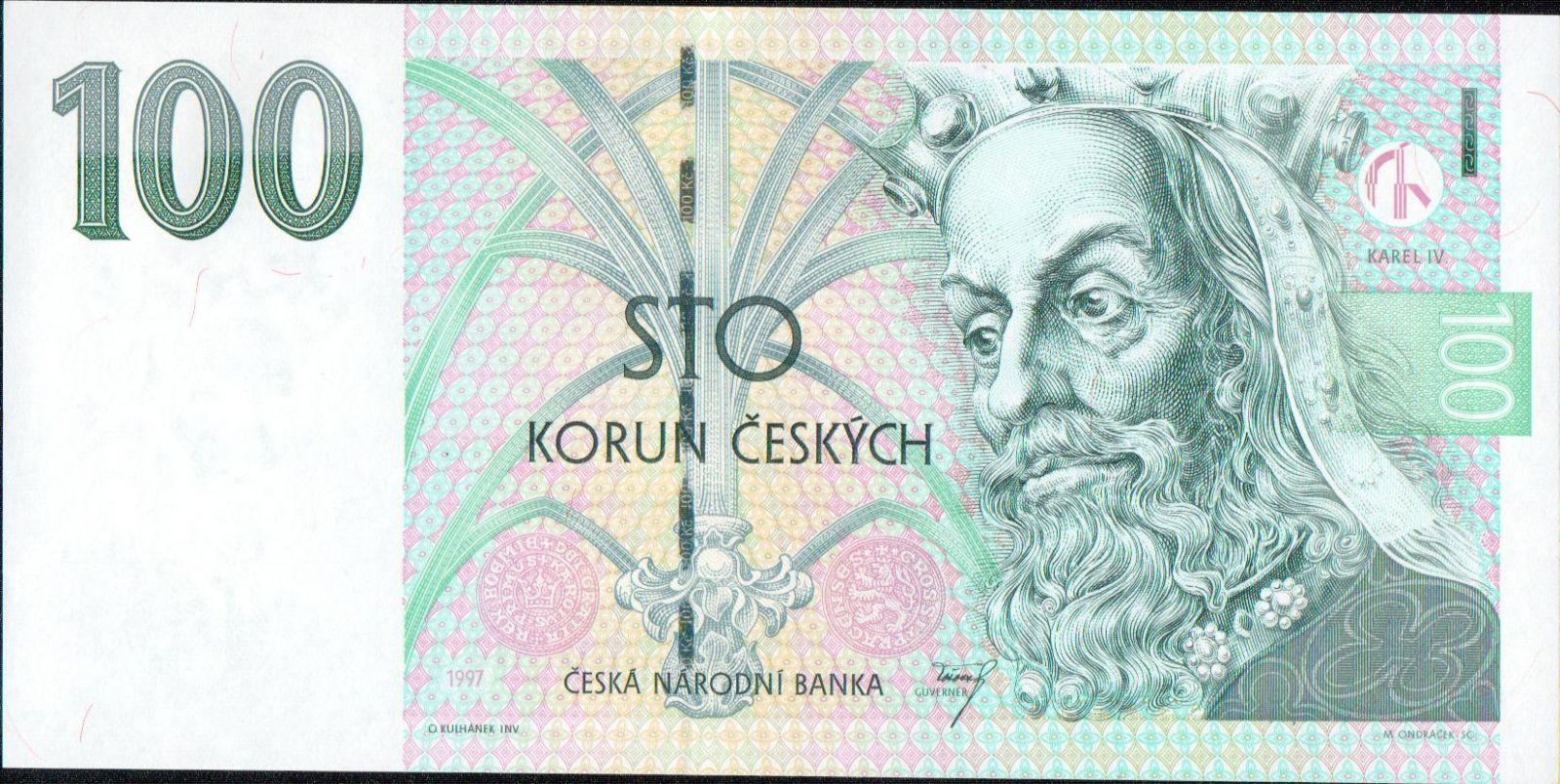 100Kč/1997/, stav UNC, série G