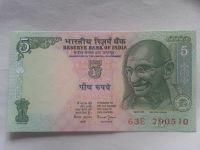 5 Rupie, GANDHI, Indie