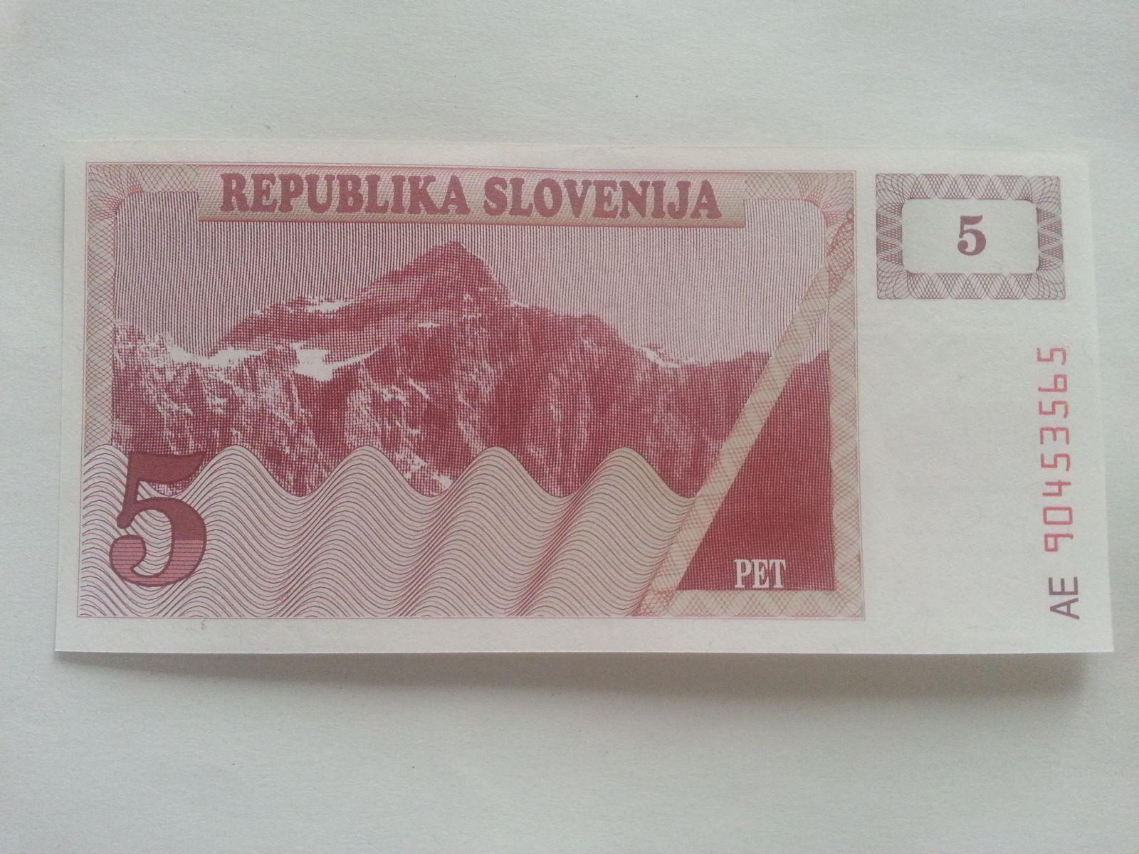 5 Tolarů, vínový hory, Slovinsko