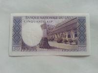 50 Kip, král+chrám, Laos