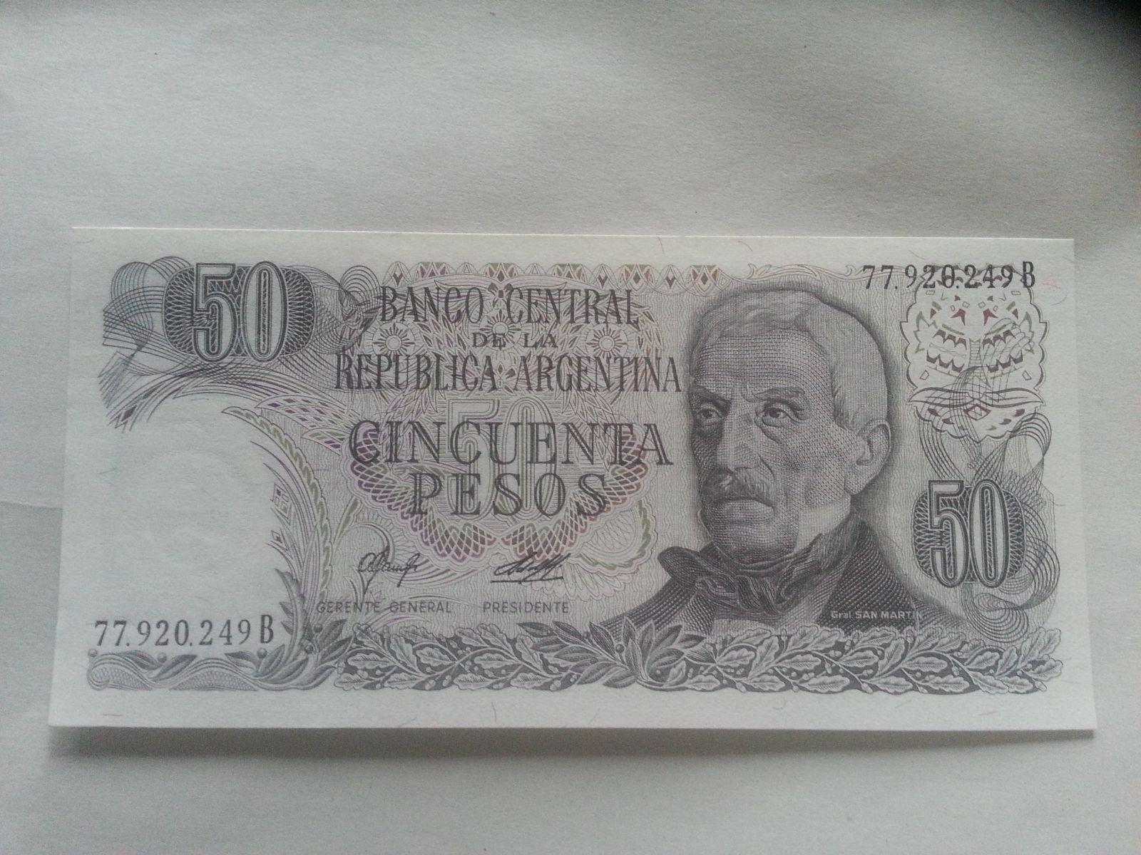 50 Pesos, SAN MARTIN, Argentina