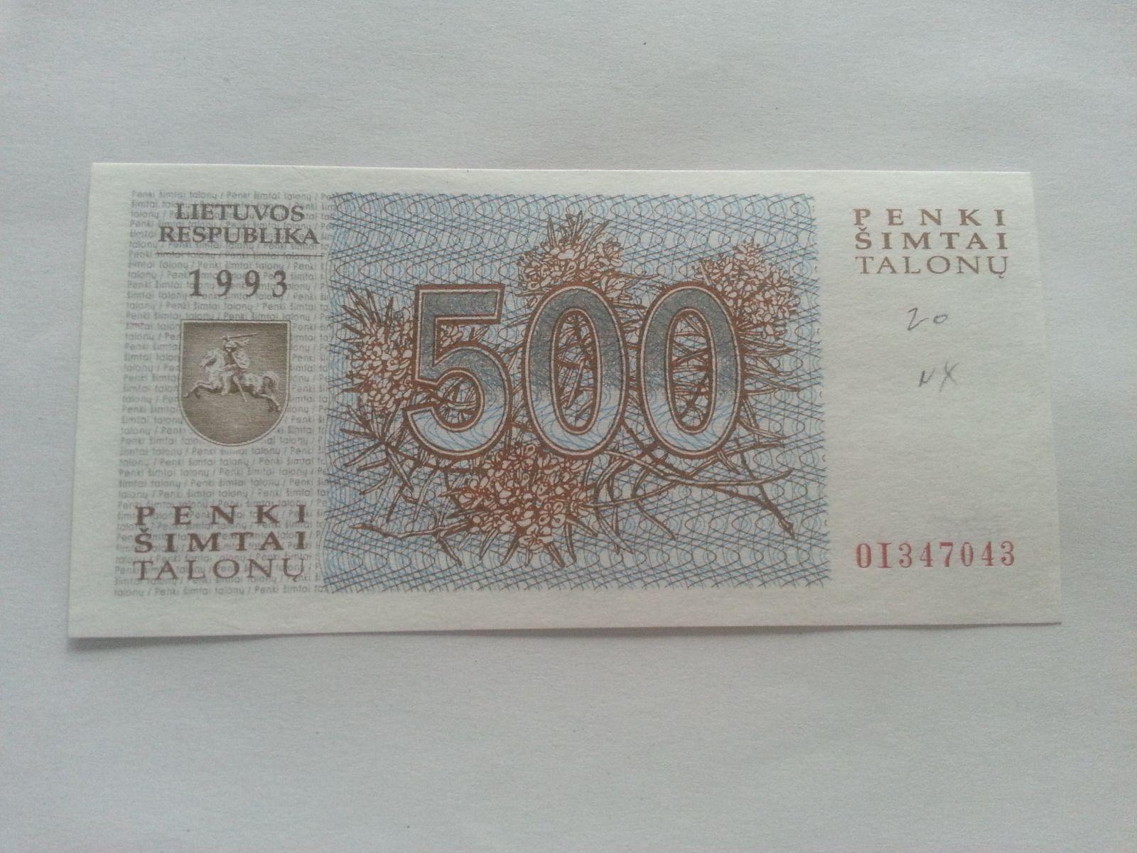 500 Litas, Litva
