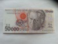 50000 Cruzeiros = 50 NOVÝCH Cruzados, CASCUDO, Brazilie