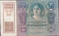 50Kč/1914-18, kolek ČSR/, stav 2 dr.n., série 1025
