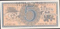 5Ks/1945/, stav UNC perf. SPECIMEN, série D 023