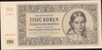1000Kčs/16.5.1945/, stav 1+, série 14 E