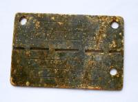 III. Říše – Německo Vojenská identifikační známka s číslem Zu
