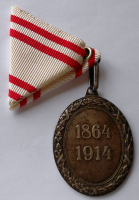 Rakousko Záslužná medaile ČK 1864-1914 stř.st.
