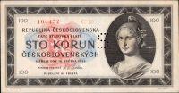 100Kčs/1945/, stav 0 perf. S, série C 20