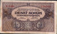 10Kč/1919/, stav 2-, série O 114