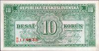 10Kčs/1945-bl/, stav UNC, série RD