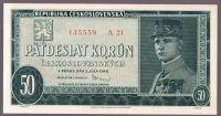 50Kčs/1948/, stav 0, série A 21