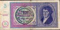 5K/1938-40/, stav 4+, série A 008, ruční přetisk