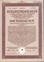 Dluhopis Deutsche Kommunal Sammel, Berlín/1926/ 12,50 Reichsmark, série I, formát A4