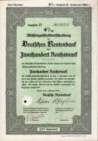 Dluhopis Deutschen Rentenbank, Berlín/1935/, 200 Reichsmark, 4%%, formát A4