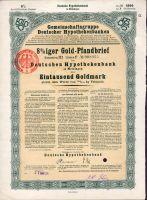 Dluhopis Gemeinschaftsgruppe Deutscher Hypothekenbanken, Meininger/1924/, 1000 Goldmark, formát A4
